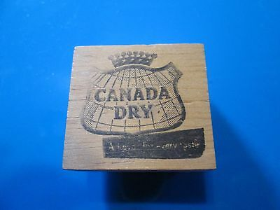 Canada Dry a flavor for every taste logo rubber stamp wood mounted used