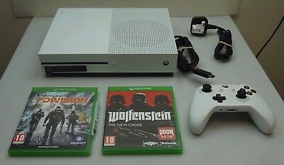 Microsoft Xbox One S Console White 500Gb + 2 Games + Excellent Includes Warranty