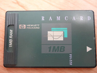 HP 1MB RAM Card For Use With HP Hewlett Packard 48GX Calculator 82216A