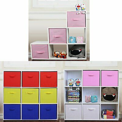 FoxHunter Toy Storage boxes – Cube Shelves – 6,9 Cubes & 3, 4 or 9 Drawers
