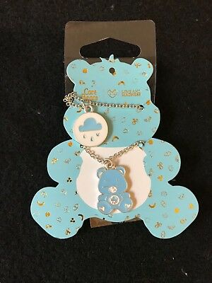 Grumpy Bear Double Layer Necklace Set- NIP
