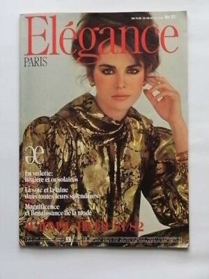 Altes Modejournal - The spirit of Luxery - ELEGANCE Paris Herbst-Winter 1981/82