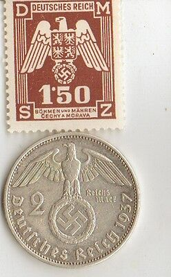 -*WWII - *US  and  *german  coins / stamps+..