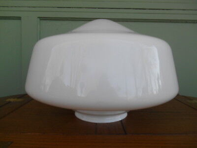 Vintage School House Hanging Ceiling Light Fixture Large Milk Glass Shade