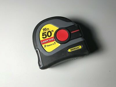 General Tools LTM1 2-in-1 Laser Tape Measure, 50' Laser Measure