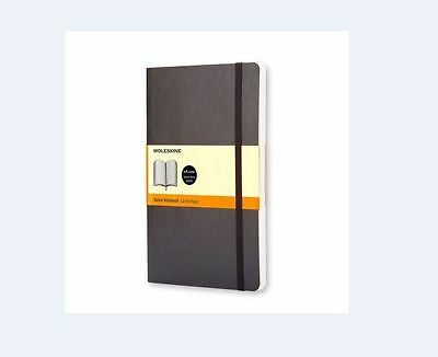 Moleskine Classic Ruled Soft Cover Notebook, Large 5 x 8.25-Inches Classic
