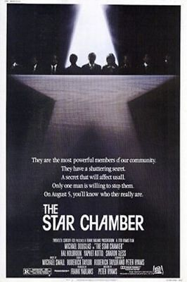 The Star Chamber Original Folded Mint Movie Poster 1983 Michael Douglas