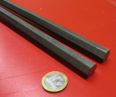 "1215 Carbon Steel Hex Rod 1/2"" Hex x 3 Foot Length, 2 Units"
