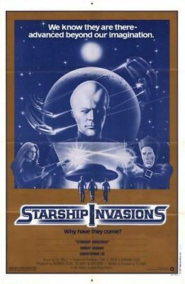 Starship Invasions Original Folded Mint 27X41 Movie Poster 1977 Christopher Lee