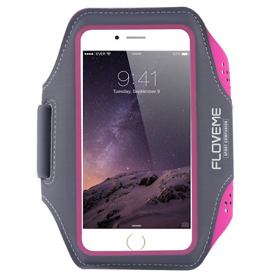 """Running Armband, FLOVEME 4.7"""" Red Universal Sports Gym Armband Case for iPhone 6"""