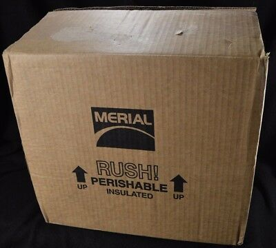 "Styrofoam EPS Panel Cooler Insulated Shipping Box 14.5"" x 12.75"" x 12""H"