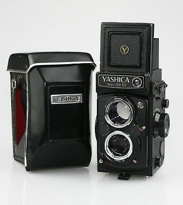 YASHICA Mat-124G 6x6 TLR Camera with Yashinon 80mm F3.5 Lens - EXCELLENT (QZ52)