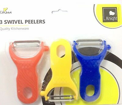 3X Fruit Vegetable Spud Potato Speed Peeler Slicer Carrot Cutter Kitchen Tool UK