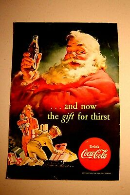 Santa Claus - Coca-Cola ad from National Geographic - December 1952
