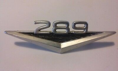 Classic Ford Mustang 289 Fender Ornament Emblem Vintage Chrome