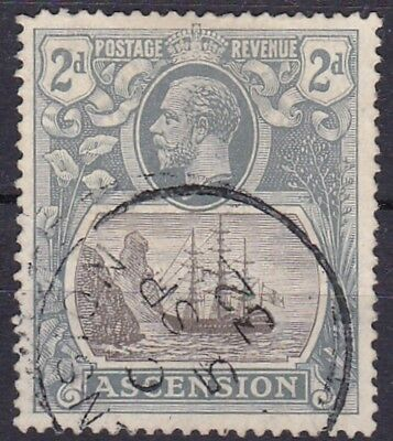 ASCENSION #13 USED 2p BLUISH GRAY & GRAY SEAL OF COLONY