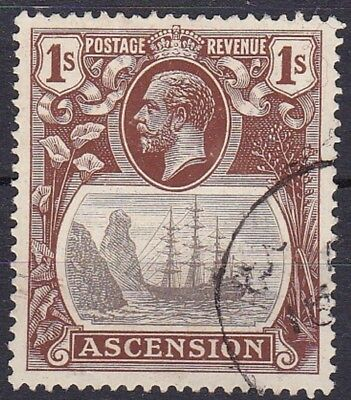 ASCENSION #19 USED 1sh BROWN & GRAY SEAL OF COLONY