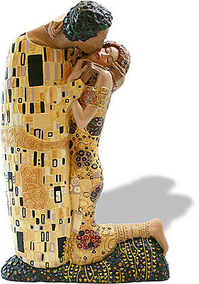 Gustav Klimt THE KISS Large Size Licensed Museum Sculpture Statue Figure