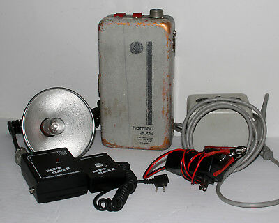 Norman 200B Outfit LH2K Strobe New Battery 2 Chargers Sync Cord Wireless Trigger