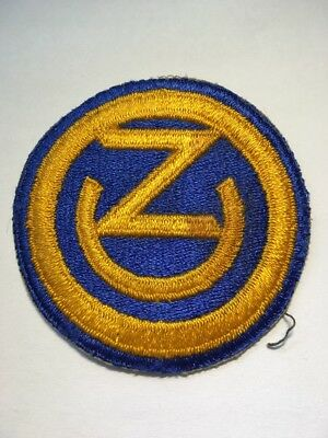 Original WWII U.S. Army 102nd Infantry Division Cut OD Edge Full Color Patch