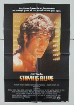 Staying Alive Original Folded 27X41 Mint Movie Poster 1983 John Travolta Dance