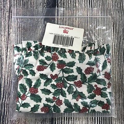Longaberger 1997 Christmas Collection Snowflake Basket Liner - Traditional Holly