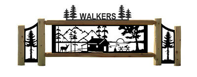 Cabin Decor Cabin Sign Metal Lake Sign ENSA1001094 Personalized Welcome Sign