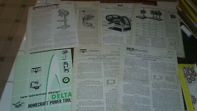 """Delta Rockwell 14"""" Drill Press, cut off saw, band saw- Instruction Manual/ misc"""