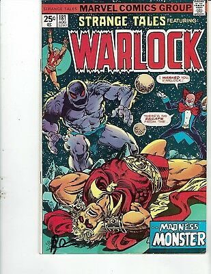 Strange Tales 181  Warlock Fine-  Signed By Jim Starlin