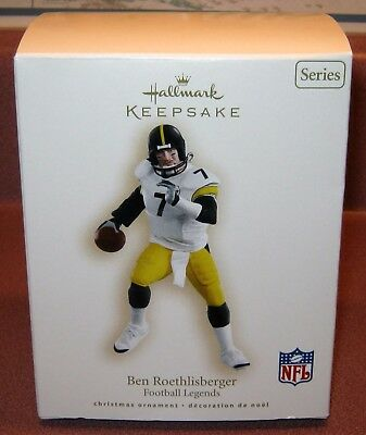 Hallmark Keepsake BEN ROETHLISBERGER Ornament NEW BOX Pittsburgh Steelers 2007