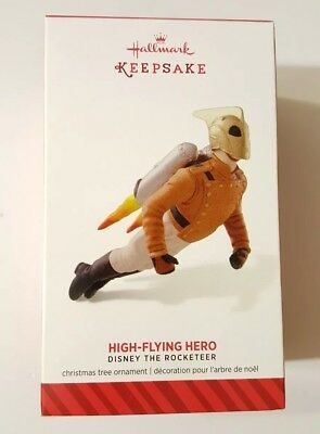 "Hallmark 2014 HIGH-FLYING HERO ""DISNEY THE ROCKETEER"" LIMITED EDITION  *NEW*"