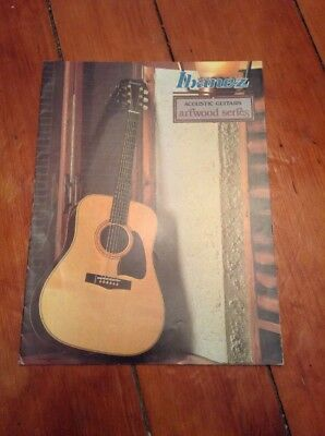 Vintage Ibanez Acoustic Guitar Catalog Brochure Artwood Series 1979