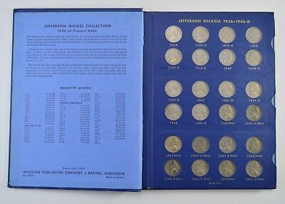 COMPLETE SET - 1938-63 Jefferson Nickels Collection SILVER War 1950-D *571
