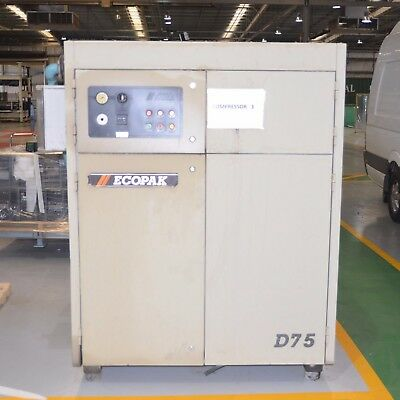 Champion ECOPAK Rotary Screw Air Compressor D-75 55kW 750kPa 29771 hours