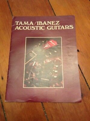 Vintage Tama Ibanez Acoustic Guitars Catalog Brochure 1978