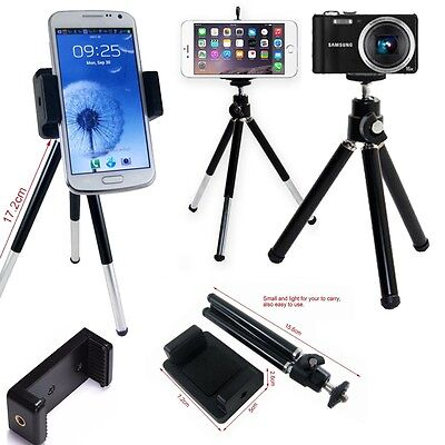 Apple iPhone X 8 8 Plus 7 6 5 5C 4 Mobile Camera Holder Leg Tripod Mini Portable