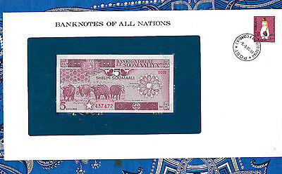 Banknotes of All Nations Somalia 1983 5 Shillings P31a UNC Serie D.008