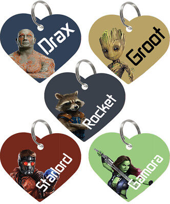 Disney Guardians of the Galaxy 2-Sided Personalized Pet Id Tag for Dogs & Cats