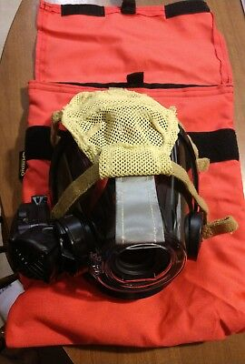 NEW Scott AV3000 SCBA Fire Rescue Mask Large with voice amplifier and mask bag