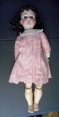 """Antique German Bisque 23"""" Queen Louise Doll Made By Armand Marseille"""