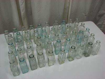50 Vintage Hires Household Extract Glass Bottles, Collections, Crafts & Weddings
