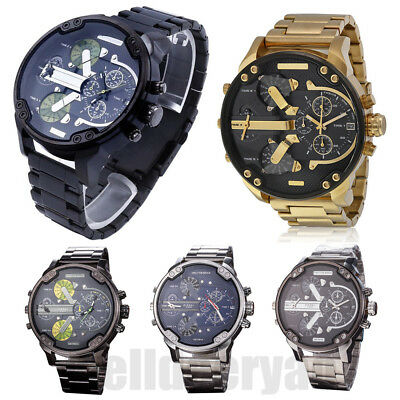 Luxury Men's Sport Casual Stainless Steel Analog Quartz Wrist Watch Wristwatches