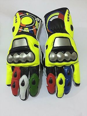 Rossi Motorbike/Motorcycle Leather Gloves VR46 Gloves.