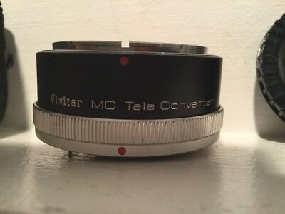 Vintage Vivitar MC Tele Converter 2X-4 Lens In New Condition - In Leather Case