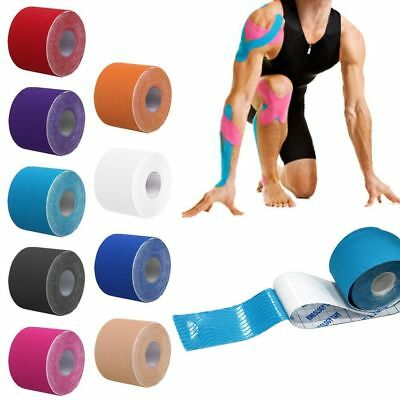1 Roll 5M Kinesiology Sports Tape Muscles Care Elastic Physio Therapeutic 2.5cm