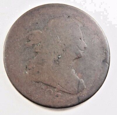 1808 (rotated reverse) Draped Bust Half Cent // Good-AG // (HC780)