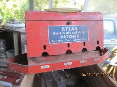 Vintage Atlas Tire Patch Metal Cabinet , Standard Sevice Station? Small Unique !