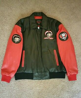 VINTAGE Betty Boop Leather Jacket Adult Extra Large Excelled