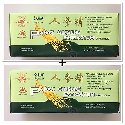 2 Boxes Panax Ginseng Extractum - 30 x 10 ml( Total 60 Bottle)