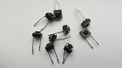Microswitch,tactile Tact Switch 12V Pack Of 20 Size 6X6X5Mm